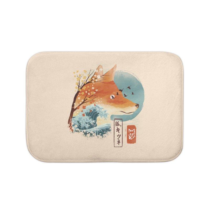 Japanese Fox Home Bath Mat by dandingeroz's Artist Shop