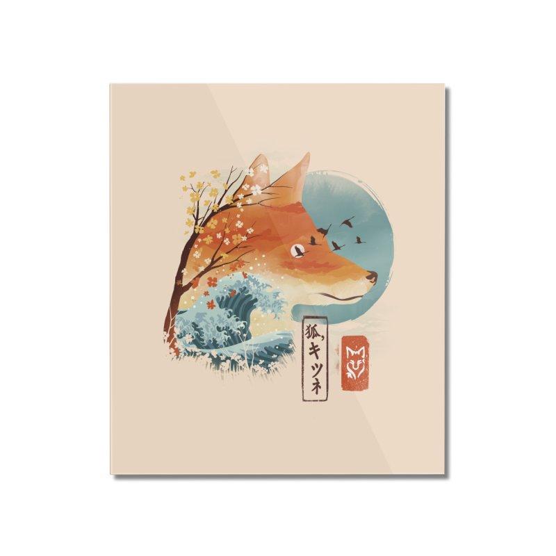 Japanese Fox Home Mounted Acrylic Print by dandingeroz's Artist Shop