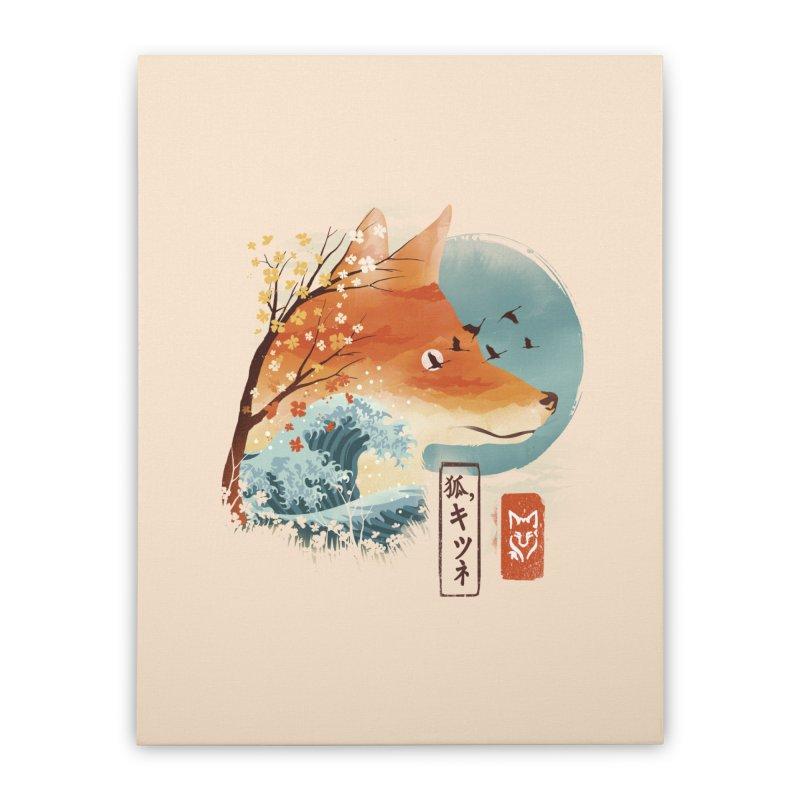 Japanese Fox Home Stretched Canvas by dandingeroz's Artist Shop