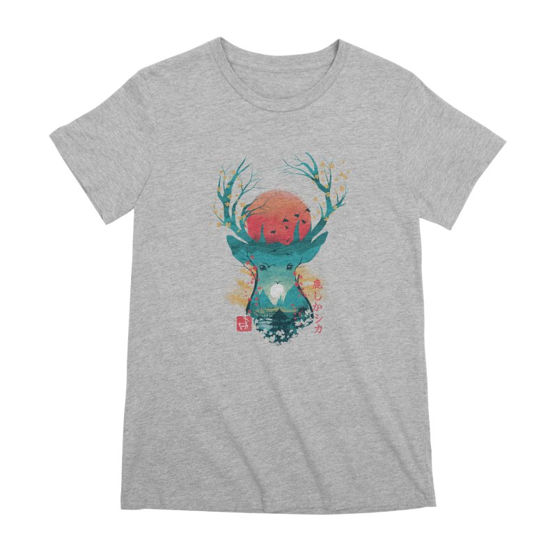 Japanese Deer Women's Premium T-Shirt by dandingeroz's Artist Shop