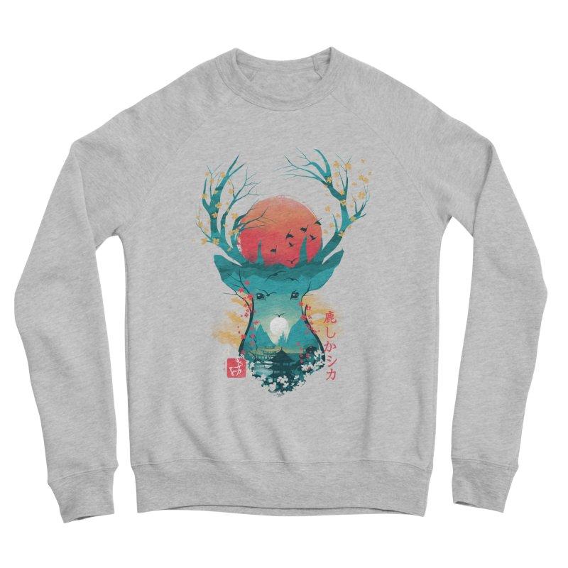 Japanese Deer Women's Sponge Fleece Sweatshirt by dandingeroz's Artist Shop