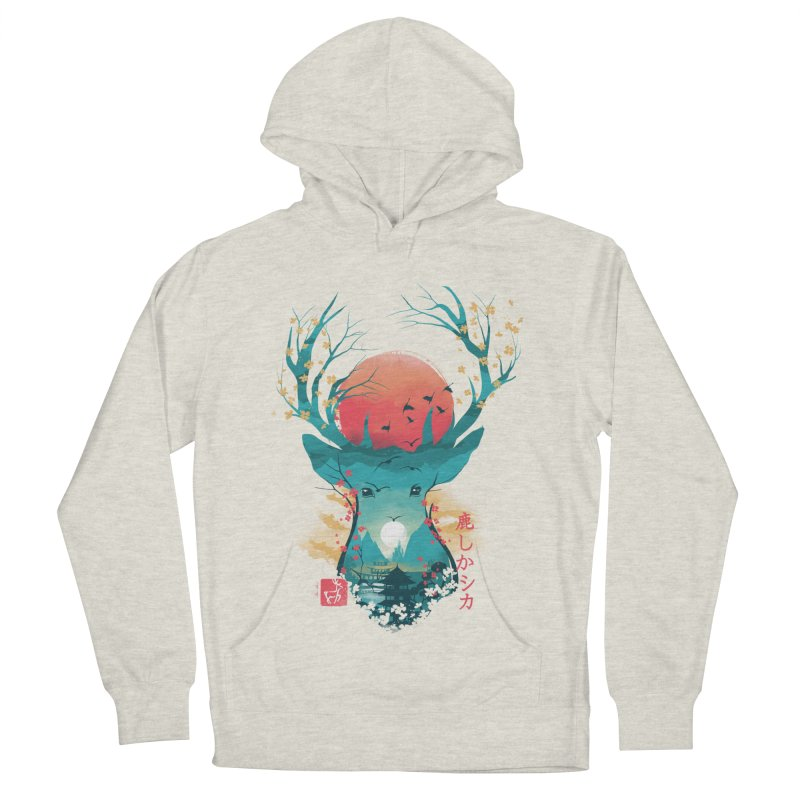Japanese Deer Women's French Terry Pullover Hoody by dandingeroz's Artist Shop