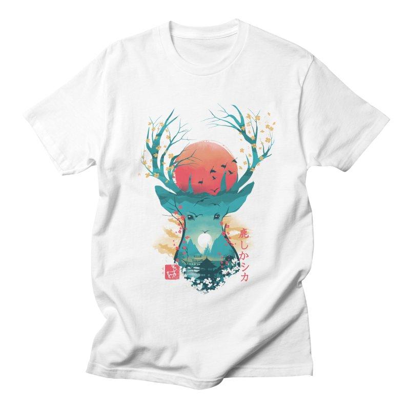 Japanese Deer Men's Regular T-Shirt by dandingeroz's Artist Shop