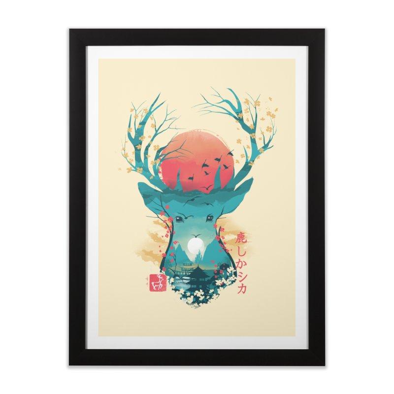 Japanese Deer Home Framed Fine Art Print by dandingeroz's Artist Shop