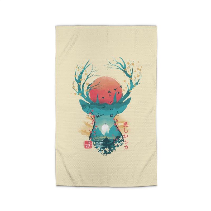 Japanese Deer Home Rug by dandingeroz's Artist Shop