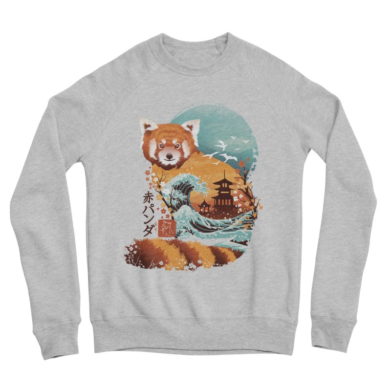 Ukiyo e Red Panda Women's Sponge Fleece Sweatshirt by dandingeroz's Artist Shop