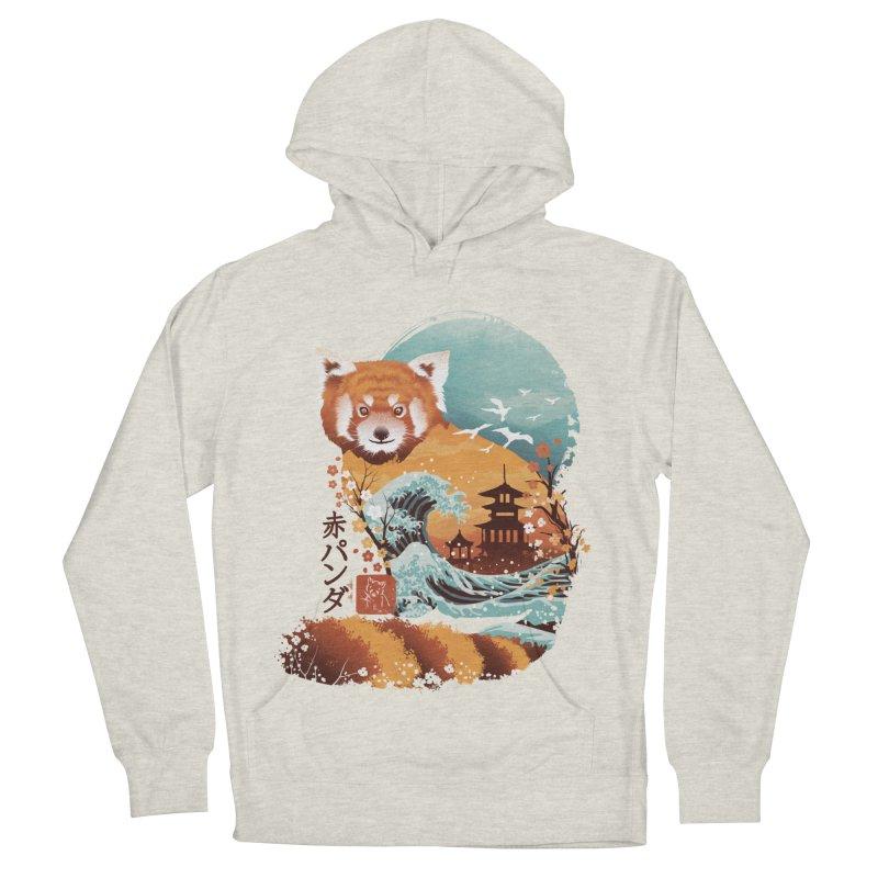 Ukiyo e Red Panda Men's French Terry Pullover Hoody by dandingeroz's Artist Shop