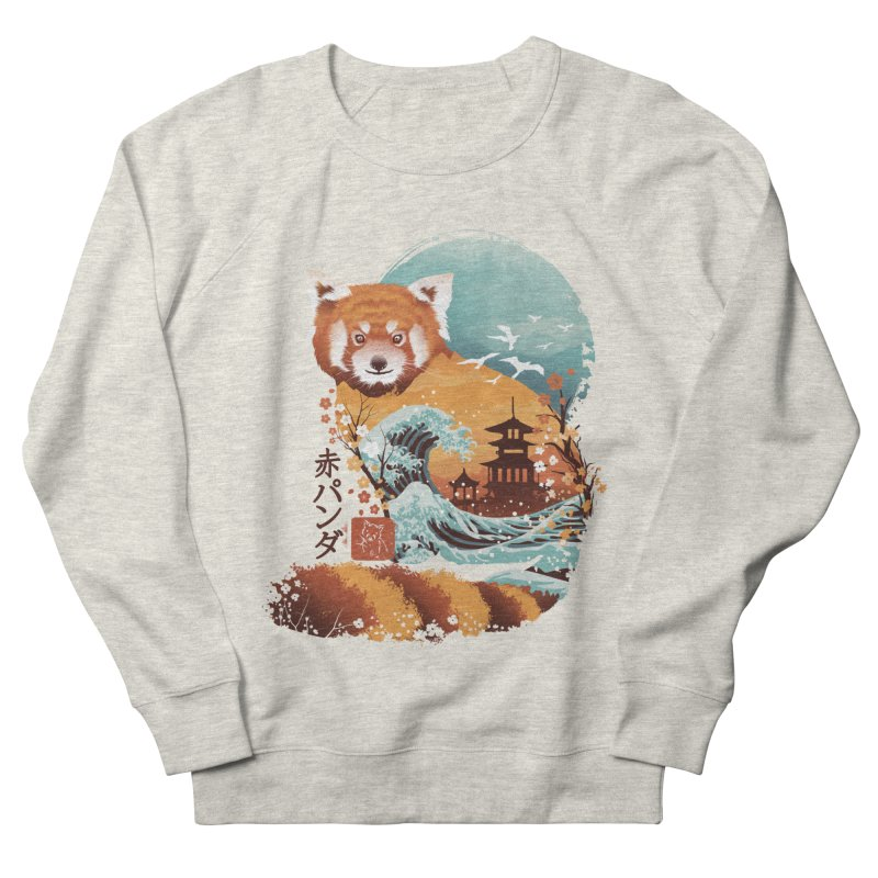 Ukiyo e Red Panda Women's French Terry Sweatshirt by dandingeroz's Artist Shop
