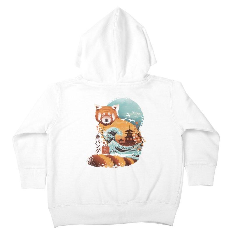 Ukiyo e Red Panda Kids Toddler Zip-Up Hoody by dandingeroz's Artist Shop