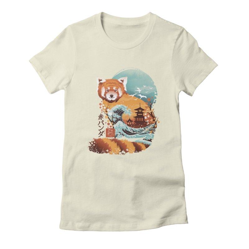 Ukiyo e Red Panda Women's Fitted T-Shirt by dandingeroz's Artist Shop