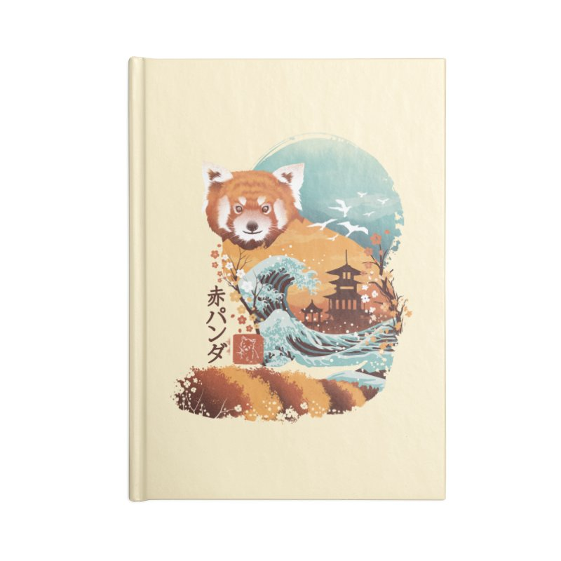 Ukiyo e Red Panda Accessories Blank Journal Notebook by dandingeroz's Artist Shop