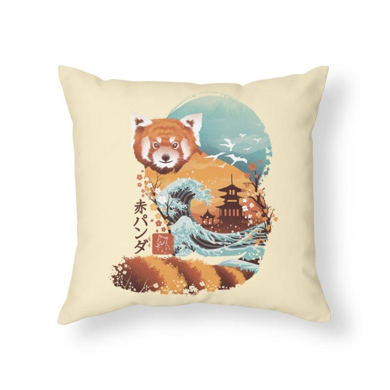 Ukiyo e Red Panda Home Throw Pillow by dandingeroz's Artist Shop