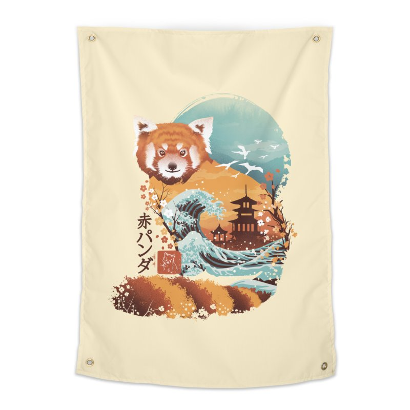 Ukiyo e Red Panda Home Tapestry by dandingeroz's Artist Shop