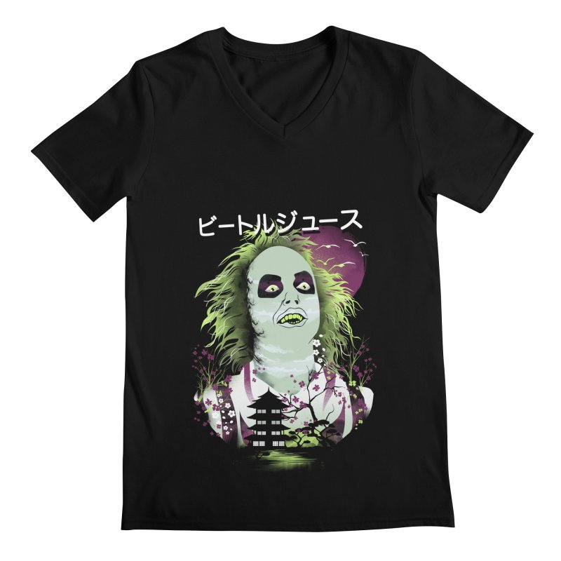 Ukiyo e Beetle Juice Men's Regular V-Neck by dandingeroz's Artist Shop