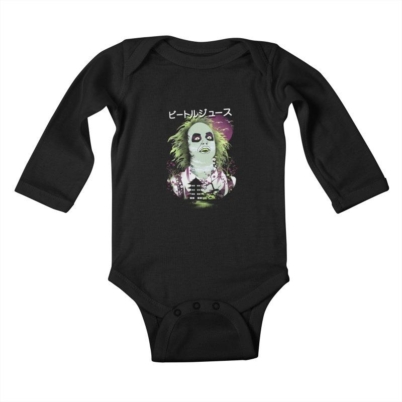 Ukiyo e Beetle Juice Kids Baby Longsleeve Bodysuit by dandingeroz's Artist Shop