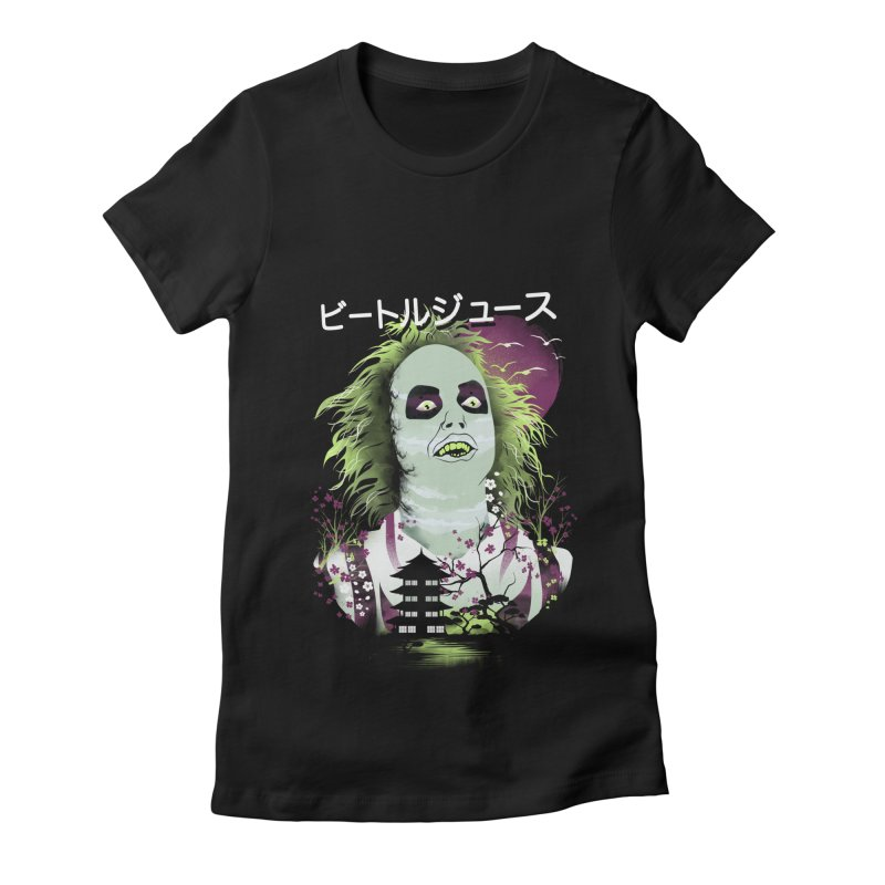 Ukiyo e Beetle Juice Women's Fitted T-Shirt by dandingeroz's Artist Shop