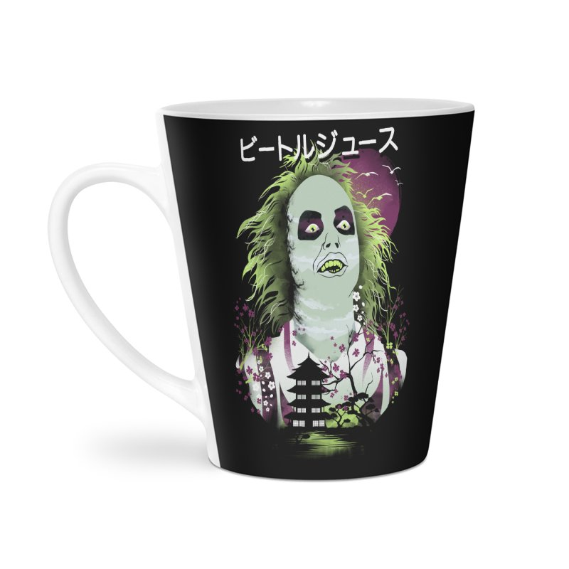 Ukiyo e Beetle Juice Accessories Latte Mug by dandingeroz's Artist Shop