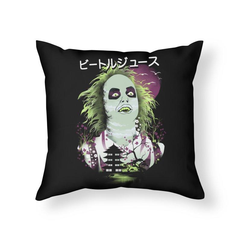 Ukiyo e Beetle Juice Home Throw Pillow by dandingeroz's Artist Shop
