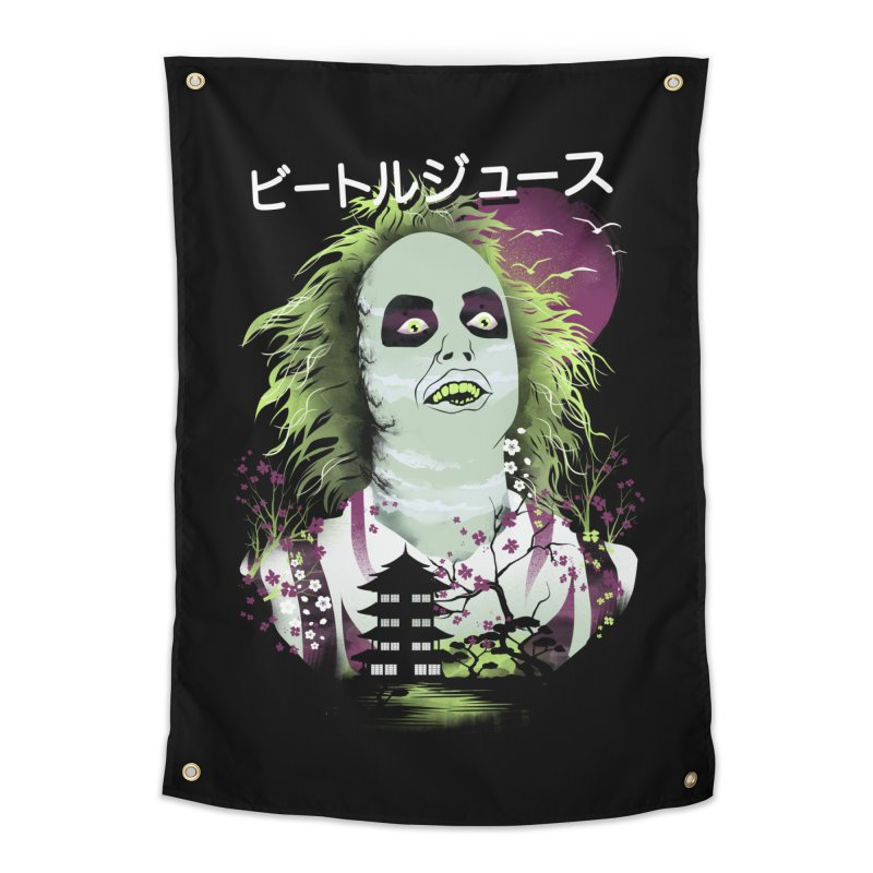 Ukiyo e Beetle Juice Home Tapestry by dandingeroz's Artist Shop