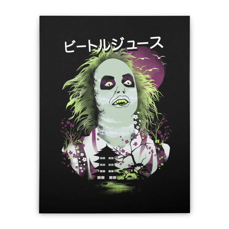Ukiyo e Beetle Juice Home Stretched Canvas by dandingeroz's Artist Shop