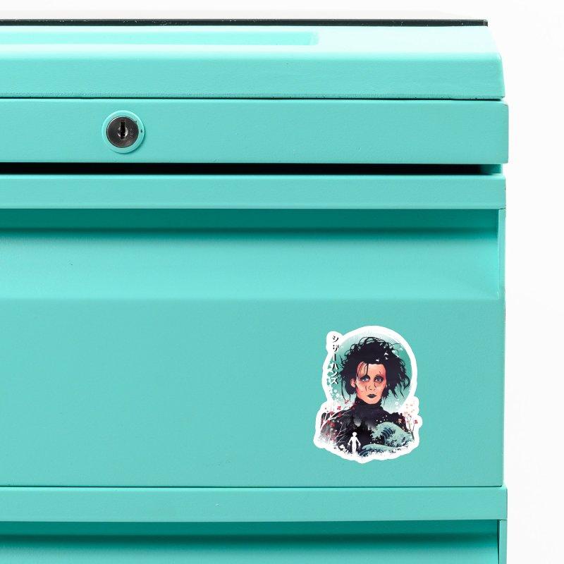 Ukiyo e Scissorhands Accessories Magnet by dandingeroz's Artist Shop