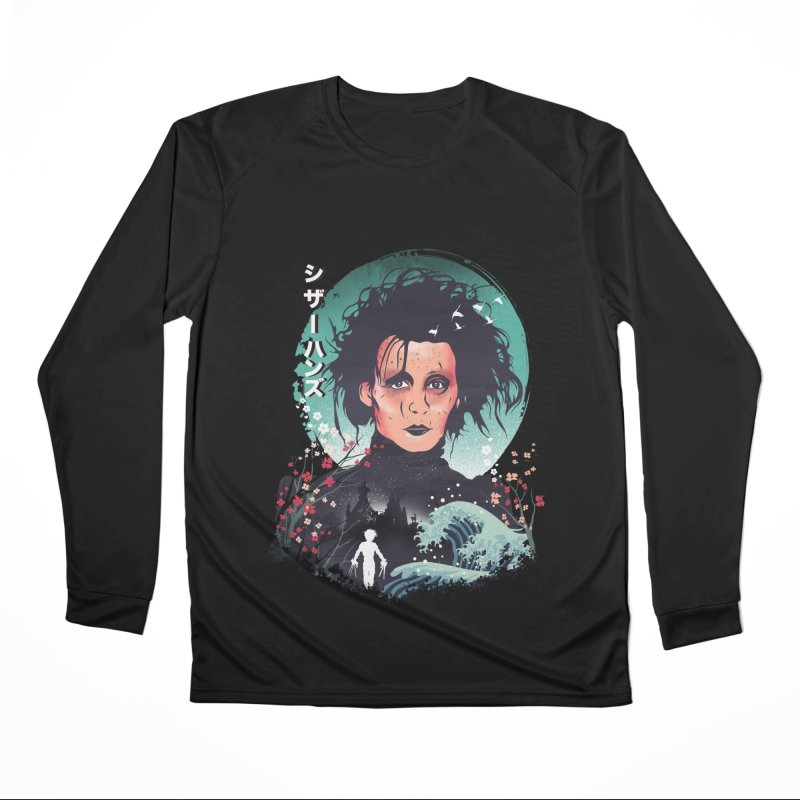 Ukiyo e Scissorhands Men's Performance Longsleeve T-Shirt by dandingeroz's Artist Shop