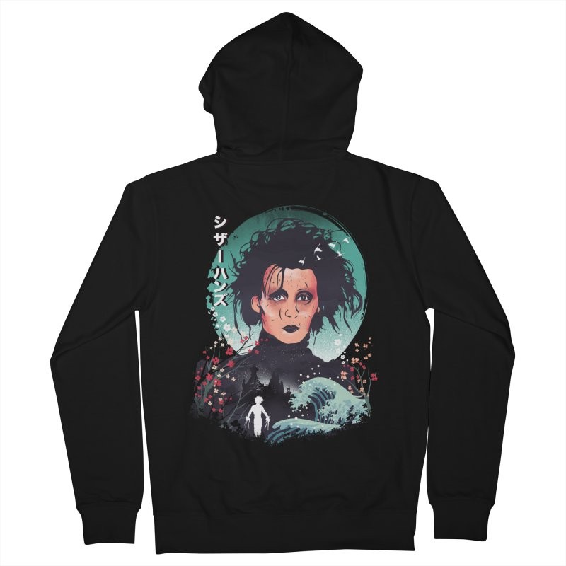 Ukiyo e Scissorhands Men's French Terry Zip-Up Hoody by dandingeroz's Artist Shop