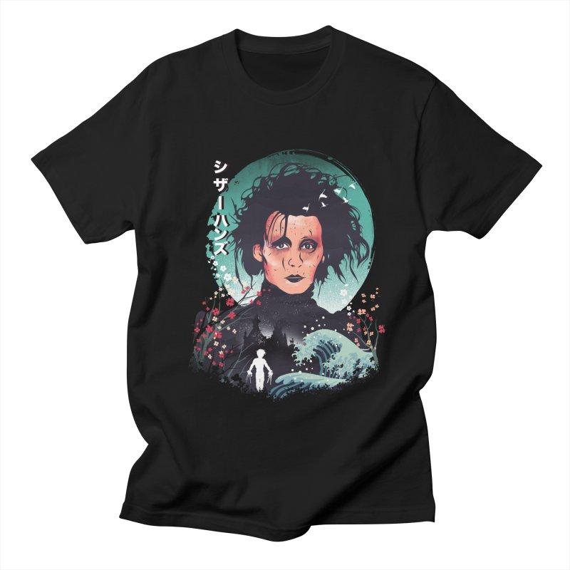 Ukiyo e Scissorhands Men's Regular T-Shirt by dandingeroz's Artist Shop