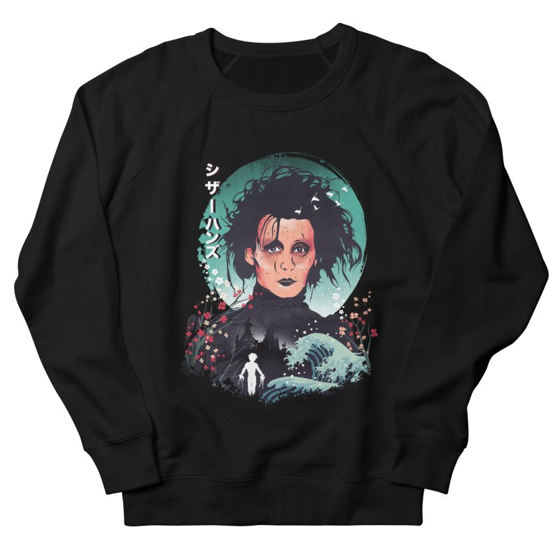 Ukiyo e Scissorhands Women's French Terry Sweatshirt by dandingeroz's Artist Shop