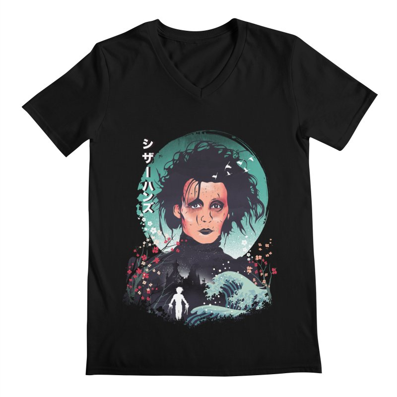 Ukiyo e Scissorhands Men's Regular V-Neck by dandingeroz's Artist Shop