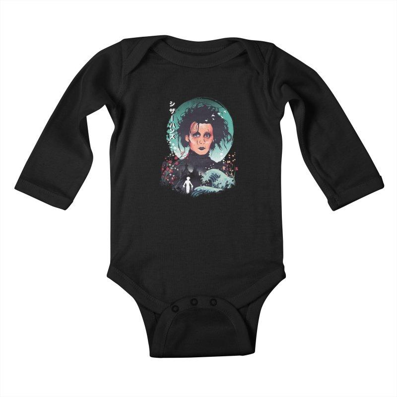 Ukiyo e Scissorhands Kids Baby Longsleeve Bodysuit by dandingeroz's Artist Shop