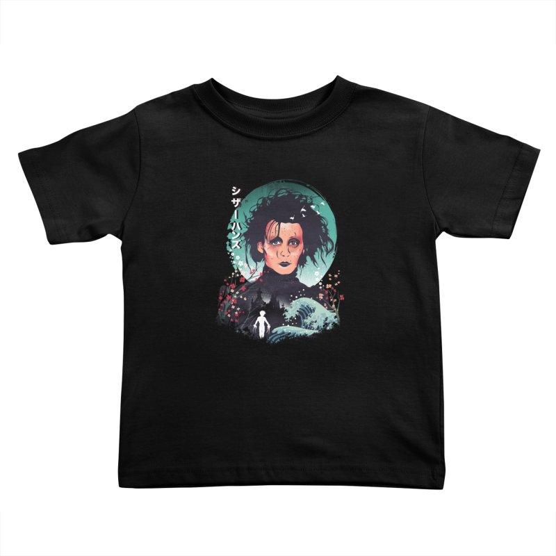 Ukiyo e Scissorhands Kids Toddler T-Shirt by dandingeroz's Artist Shop