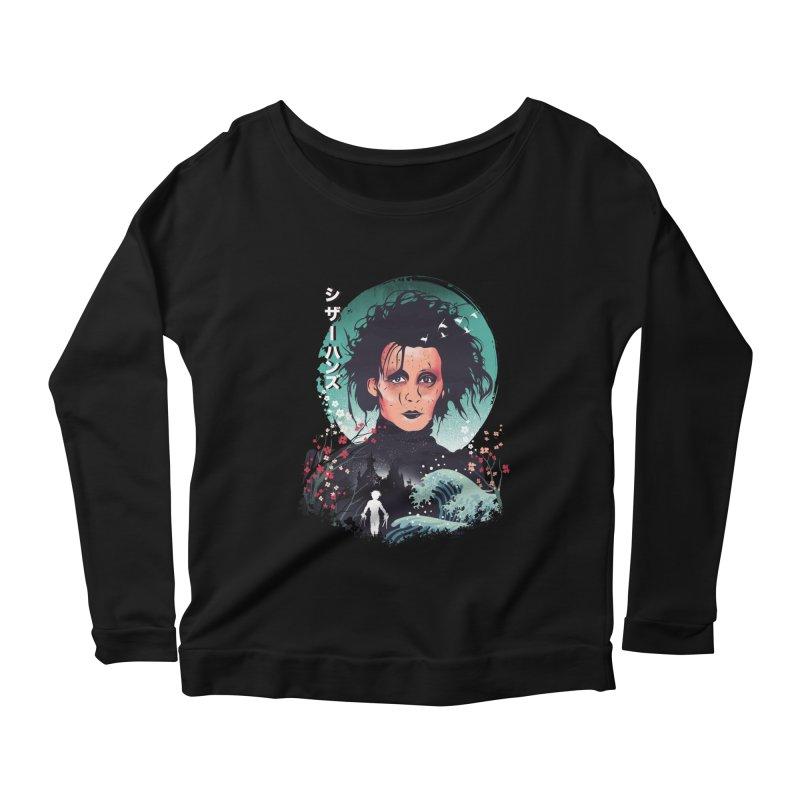 Ukiyo e Scissorhands Women's Scoop Neck Longsleeve T-Shirt by dandingeroz's Artist Shop