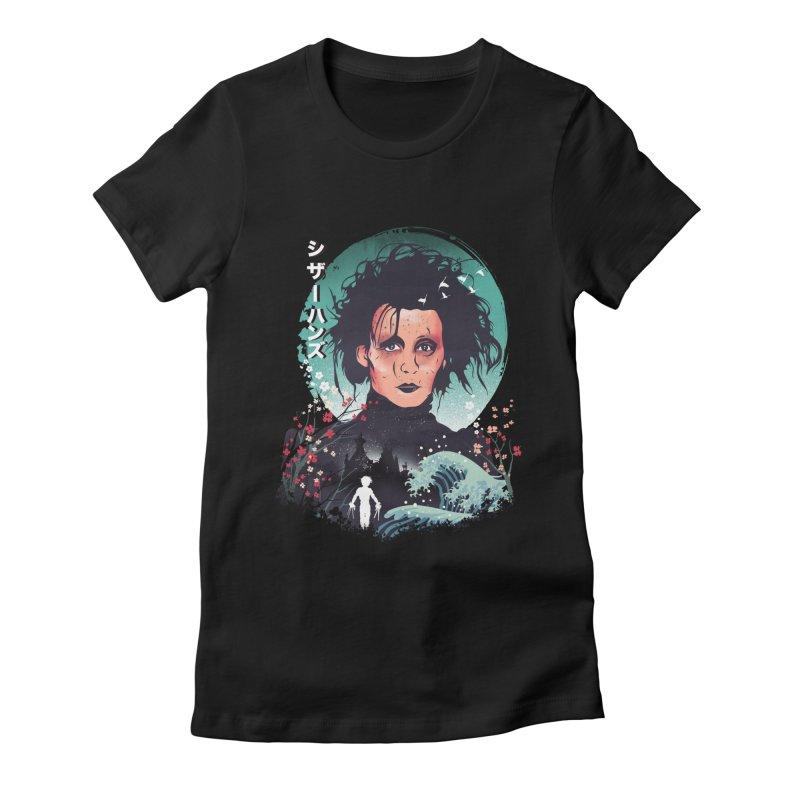 Ukiyo e Scissorhands Women's Fitted T-Shirt by dandingeroz's Artist Shop