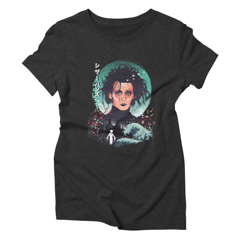 Ukiyo e Scissorhands Women's Triblend T-Shirt by dandingeroz's Artist Shop