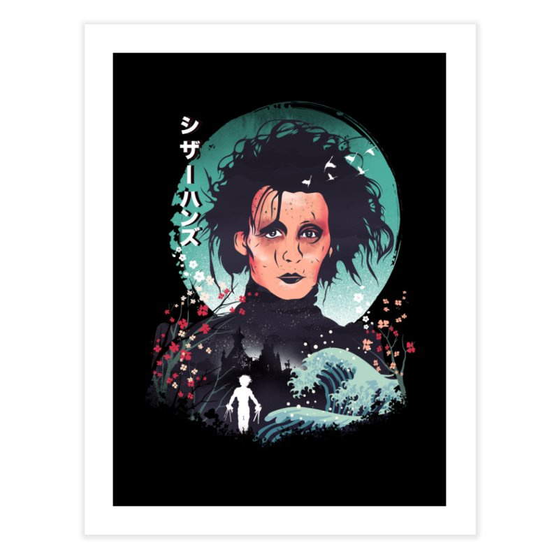 Ukiyo e Scissorhands Home Fine Art Print by dandingeroz's Artist Shop