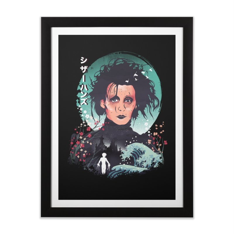 Ukiyo e Scissorhands Home Framed Fine Art Print by dandingeroz's Artist Shop