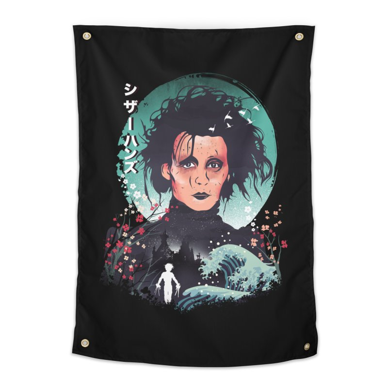 Ukiyo e Scissorhands Home Tapestry by dandingeroz's Artist Shop