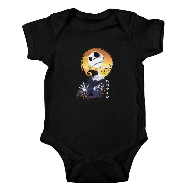 Ukiyo e Jack Town Kids Baby Bodysuit by dandingeroz's Artist Shop