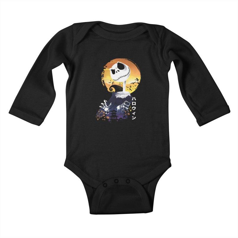 Ukiyo e Jack Town Kids Baby Longsleeve Bodysuit by dandingeroz's Artist Shop
