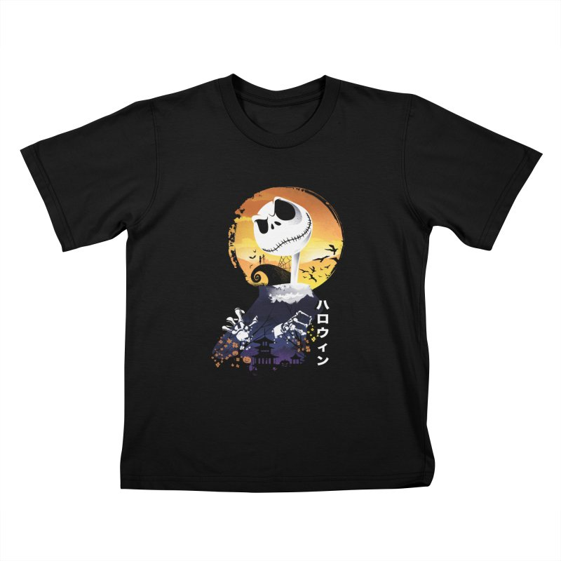 Ukiyo e Jack Town Kids T-Shirt by dandingeroz's Artist Shop