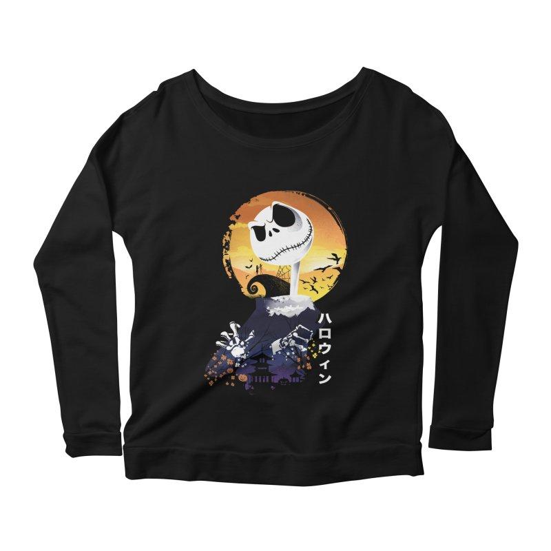 Ukiyo e Jack Town Women's Scoop Neck Longsleeve T-Shirt by dandingeroz's Artist Shop