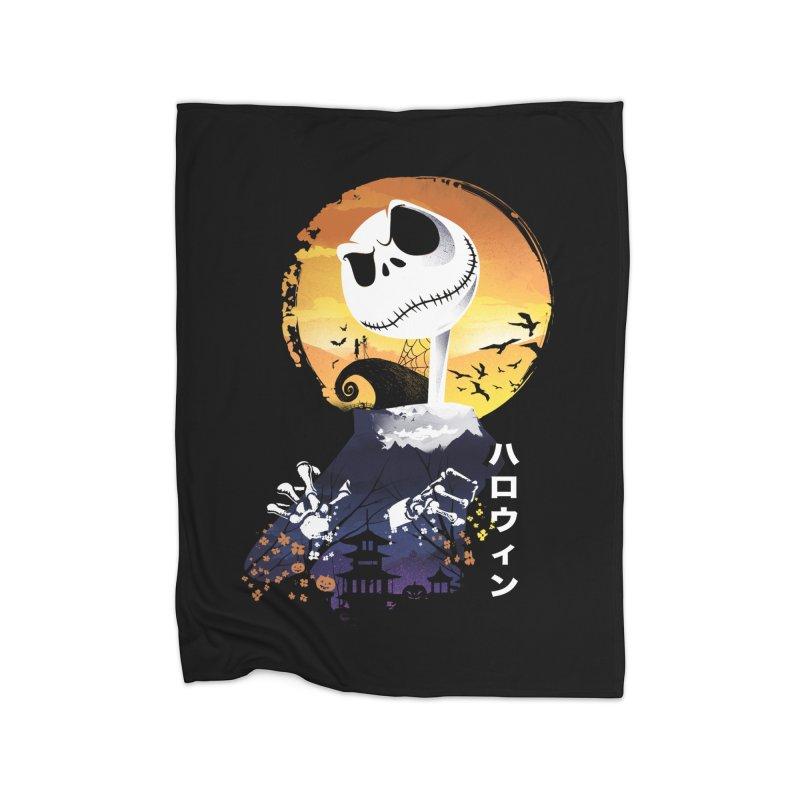 Ukiyo e Jack Town Home Fleece Blanket Blanket by dandingeroz's Artist Shop