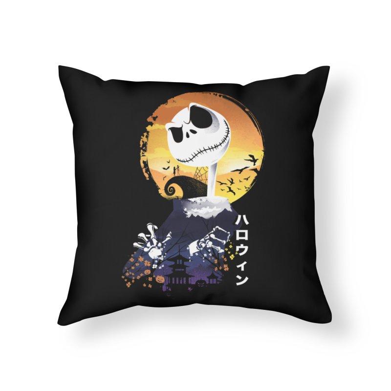 Ukiyo e Jack Town Home Throw Pillow by dandingeroz's Artist Shop