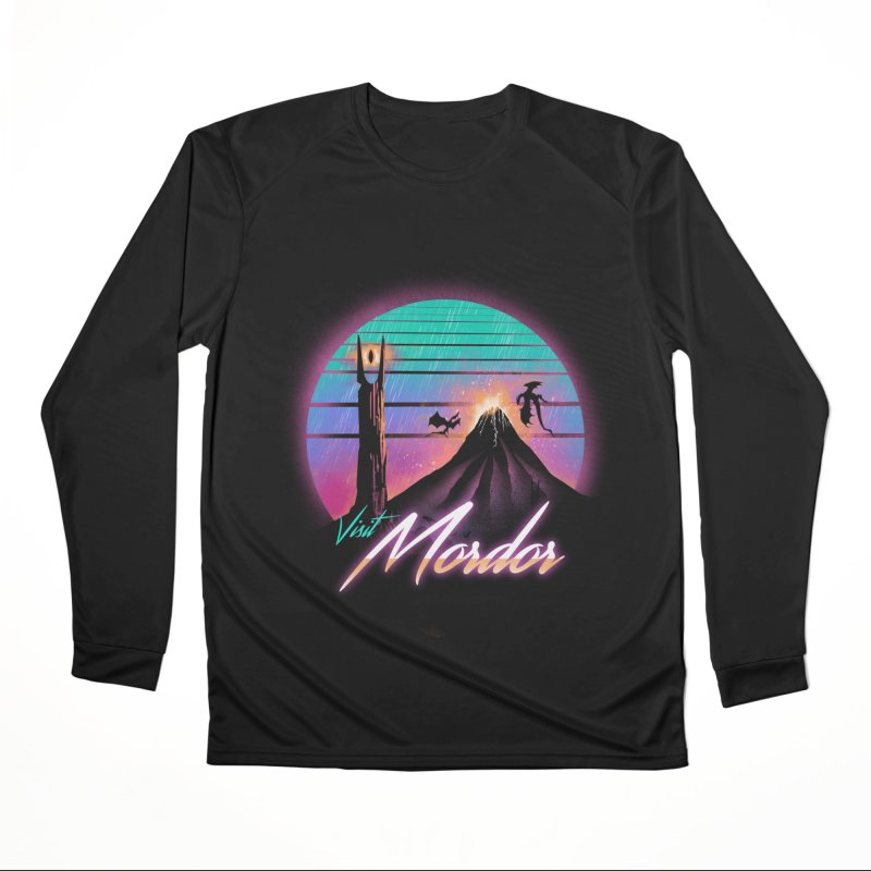 Visit Mordor Men's Performance Longsleeve T-Shirt by dandingeroz's Artist Shop