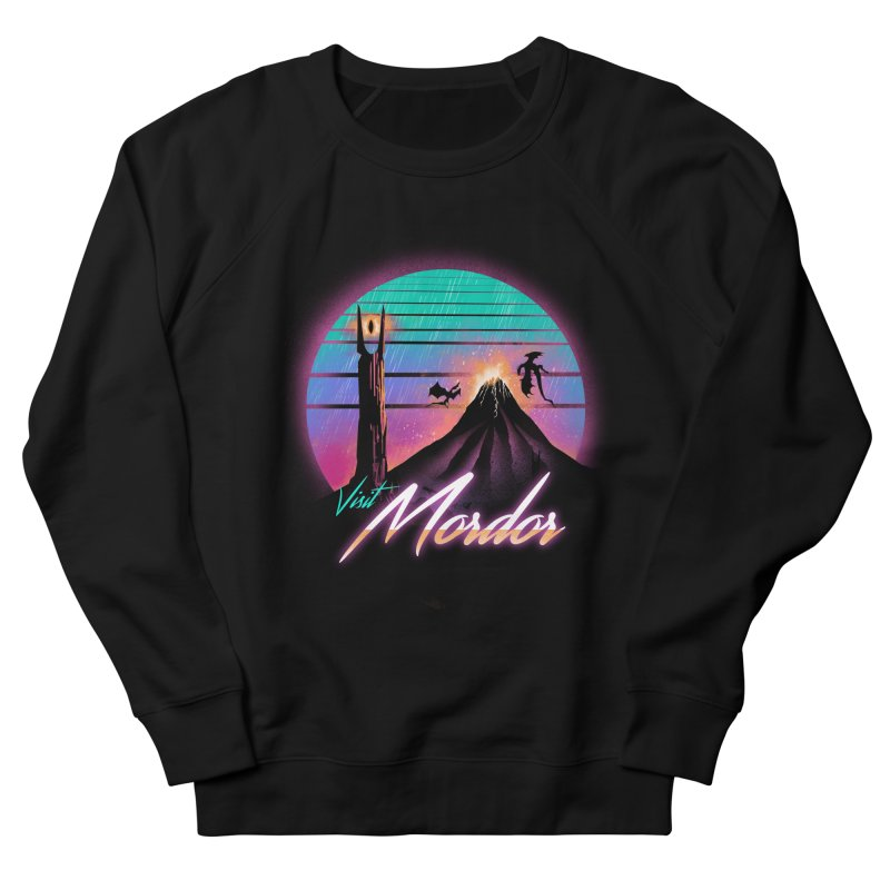 Visit Mordor Men's French Terry Sweatshirt by dandingeroz's Artist Shop
