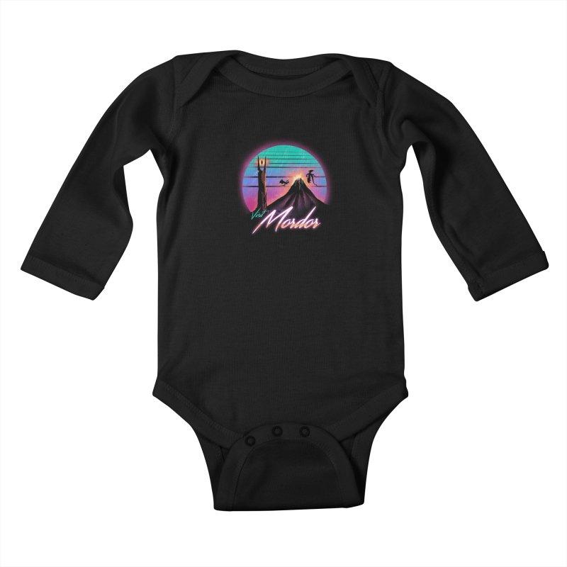 Visit Mordor Kids Baby Longsleeve Bodysuit by dandingeroz's Artist Shop