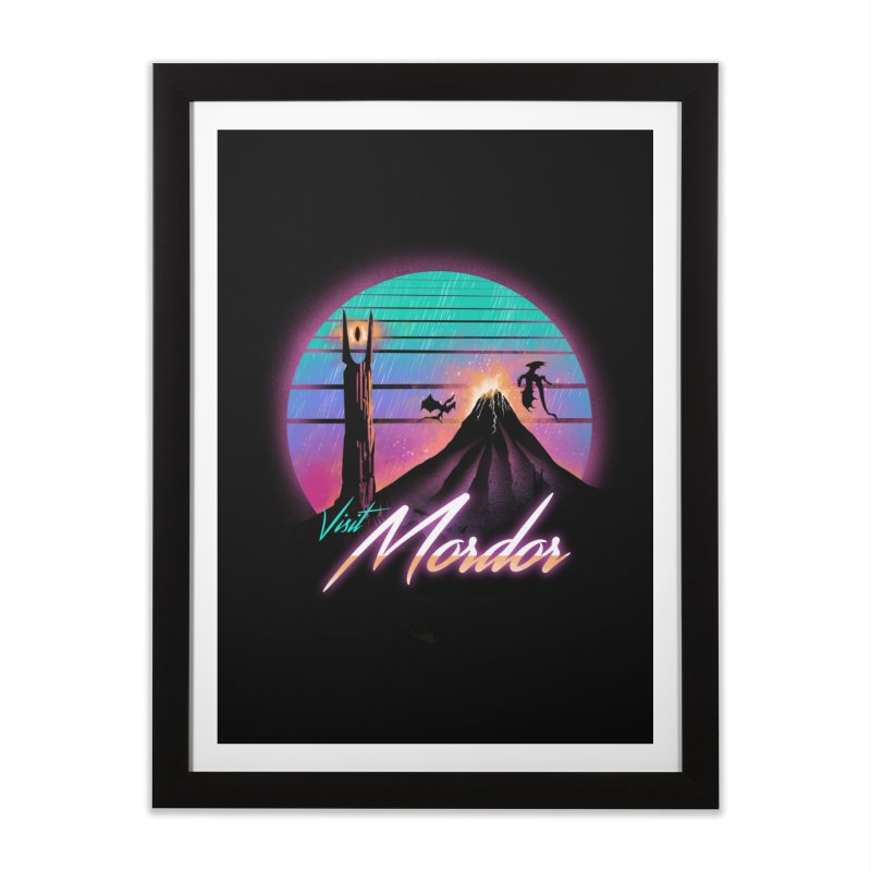 Visit Mordor Home Framed Fine Art Print by dandingeroz's Artist Shop