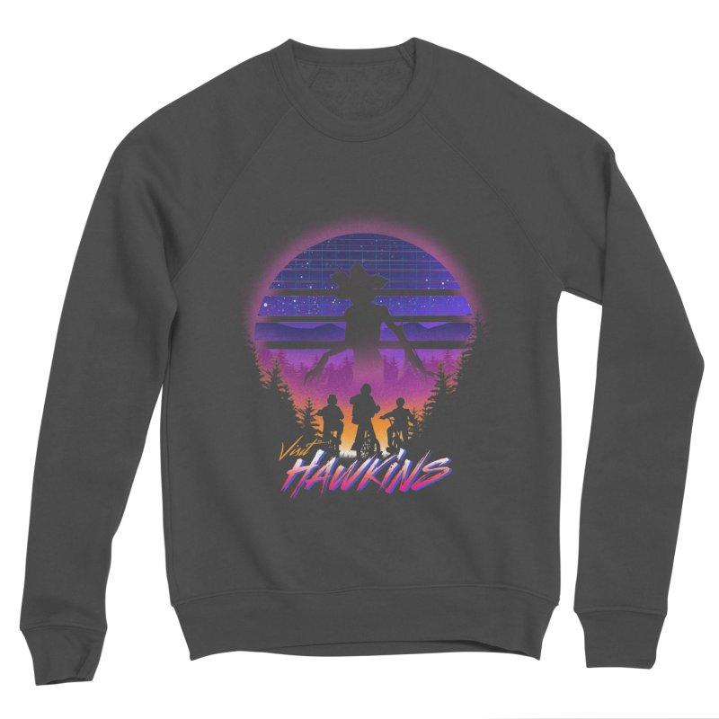 Visit Hawkins Men's Sponge Fleece Sweatshirt by dandingeroz's Artist Shop