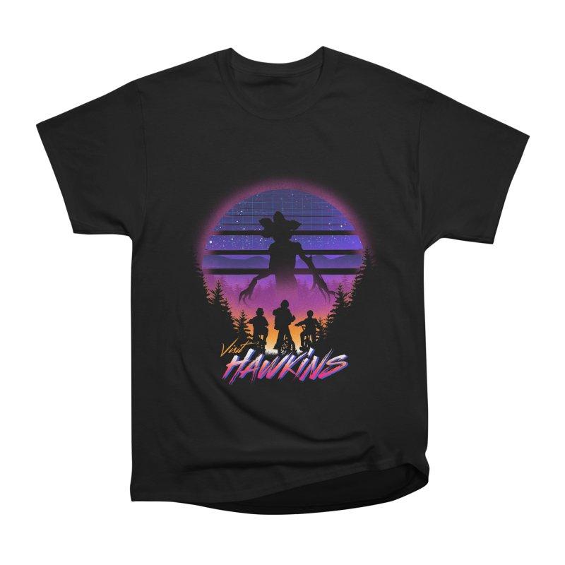 Visit Hawkins Men's Heavyweight T-Shirt by dandingeroz's Artist Shop
